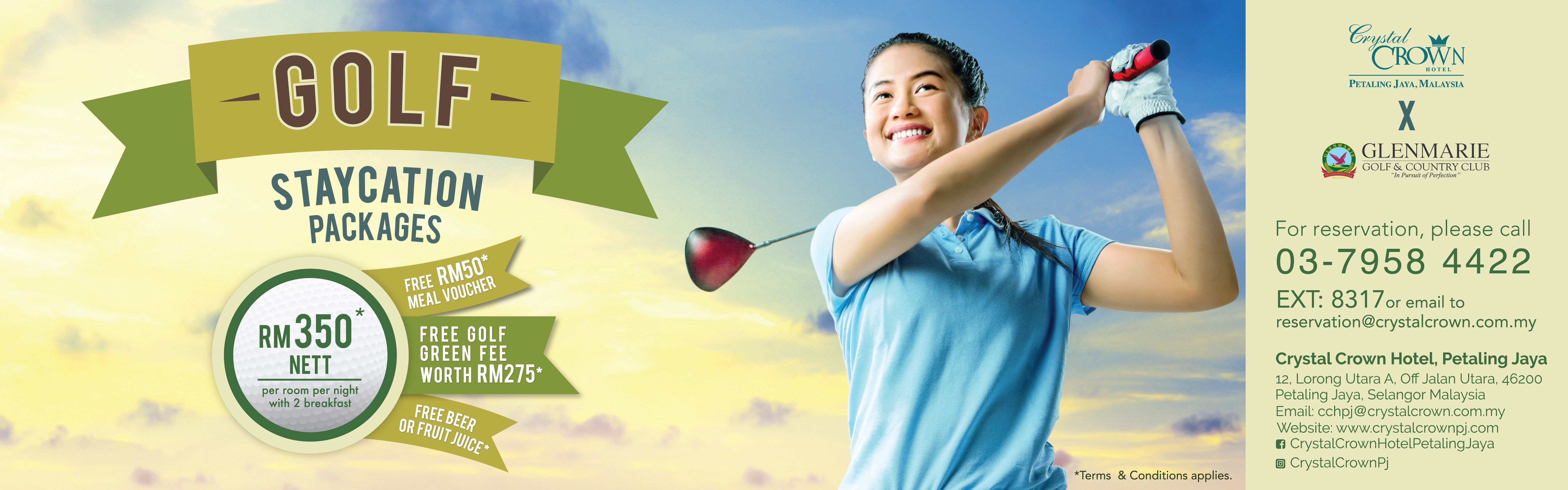Golf Staycation Package chpj update header